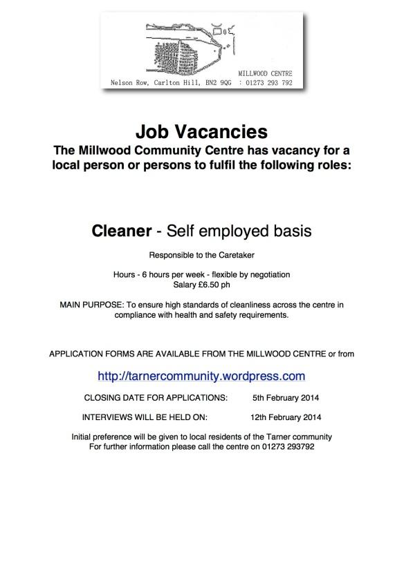 Millwood jobs advert Feb 14