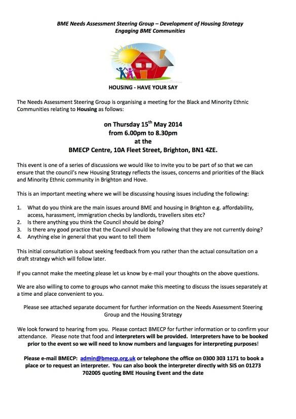 BME Housing Engagement Event