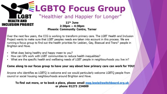 LGBTQ Focus Group Poster