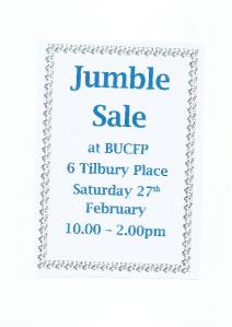 BUCFP Jumble Sale